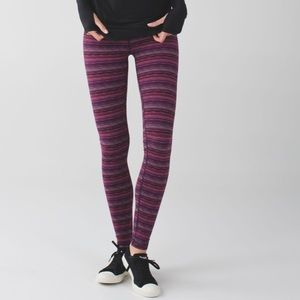 LuluLemon workout pants Space Dye Twist Regal Plum